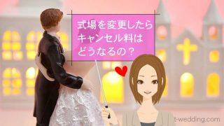 結婚式変更キャンセル料